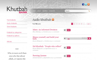 Listening to audio khutbahs directly