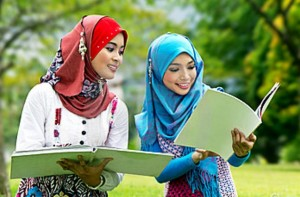 happy muslim students