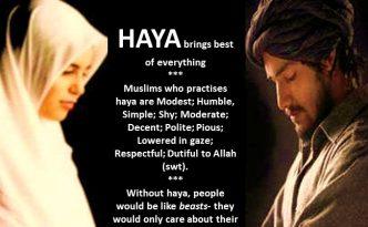 Islam enjoins modesty for both men and women